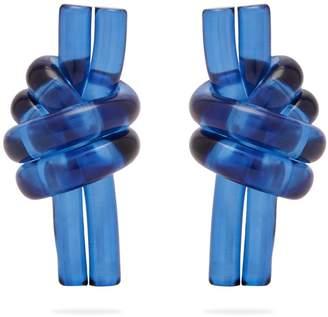 J.W.Anderson Knot perspex earrings