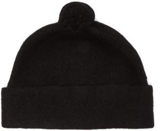 Mhl By Margaret Howell Shetland Wool Felt Beanie Hat - Womens - Black