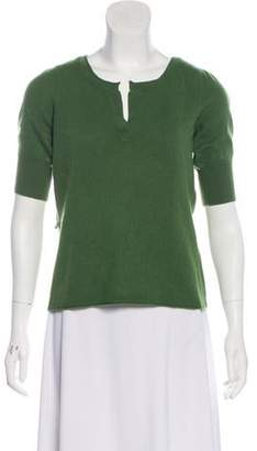 Magaschoni Short Sleeve Sweater Top