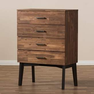 Union Rustic Tion Wood 4 Drawer Chest