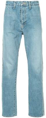 Doublet side panel straight leg jeans