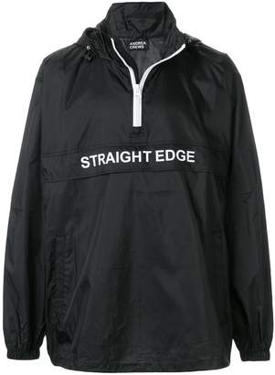 Andrea Crews slogan-detail windbreaker