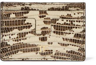 Tom Ford Lizard Cardholder - Beige