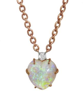 Irene Neuwirth One-Of-A-Kind 9.5 Carat Opal Heart Necklace