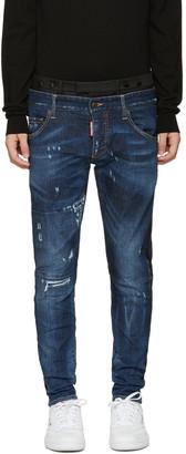 Dsquared2 Blue Uniform Mixed Jeans $1,220 thestylecure.com