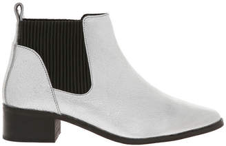 Racy Silver Leather Boot