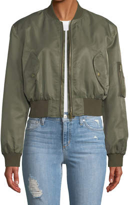 STYLEKEEPERS Street-Style Cropped Bomber Jacket