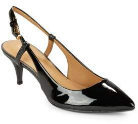 Calvin Klein Patsi Leather Slingback Pumps
