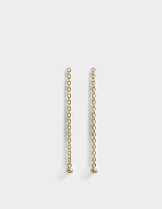 Saskia Diez Barbelle Earrings in 18K Gold-Plated Silver