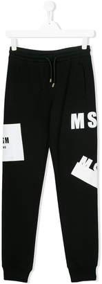 MSGM Teen logo print sweatpants