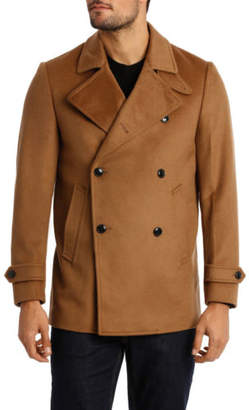 Isola NEW Trent Nathan Melton Fashion Coat Tan