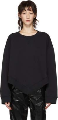MM6 MAISON MARGIELA Black Asymmetrical Sweatshirt