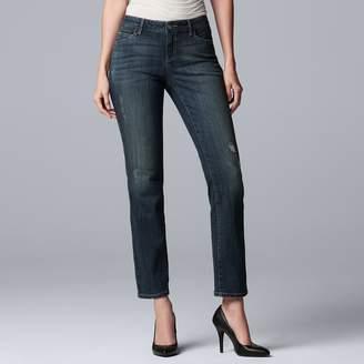 Vera Wang Women's Simply Vera Everyday Luxury Straight-Leg Midrise Jeans