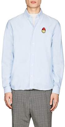 Ami Alexandre Mattiussi Men's Smiley-Patch Cotton Oxford Shirt