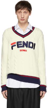 Fendi Off-White Mania V-Neck Sweater