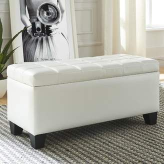 Ebern Designs Pina Faux Leather Tufted Storage Ottoman Ebern Designs