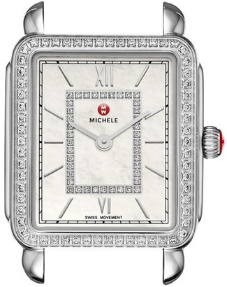 MICHELE 'Deco II' Diamond Dial Watch Case, 26mm x 28mm (Nordstrom Exclusive) $1,795 thestylecure.com
