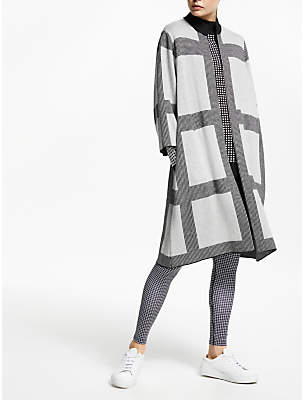 John Lewis & Partners PATTERNITY + Micro Macro Long Cardigan, Grey