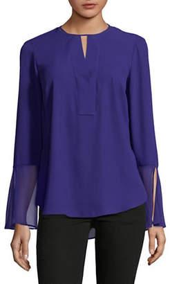 T Tahari Brigitta Bell-Sleeve Blouse