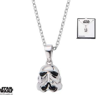 Disney Women's 925 Sterling Star Wars Stormtrooper 3D Pendant with Chain