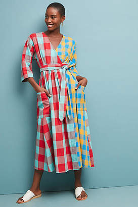 Mara Hoffman Plaid Maxi Dress