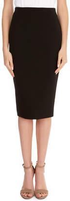 Victoria Beckham Crepe Back-Zip Pencil Skirt