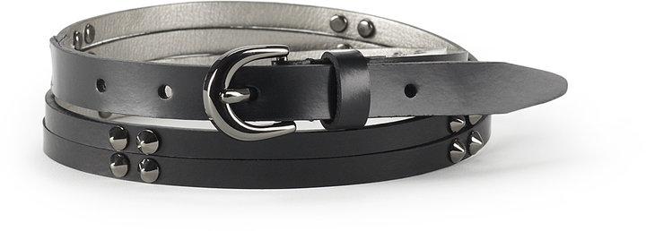 Double Strap Stud Belt