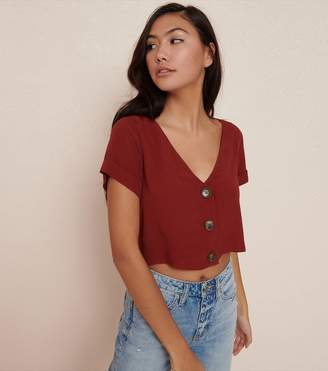 Garage Button Front Blouse