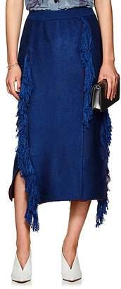 AKIRA NAKA Women's Fringed Knit Skirt
