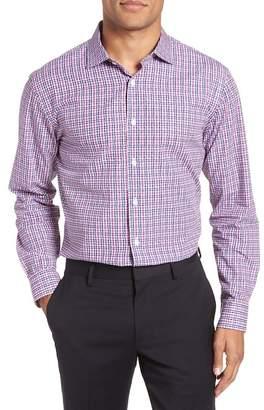 John W. Nordstrom R) Trim Fit Plaid Dress Shirt