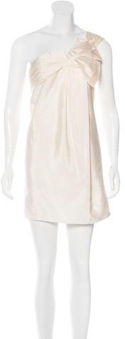 GucciGucci One-Shoulder Silk Dress
