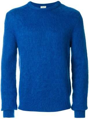 Saint Laurent fuzzy-knit sweater