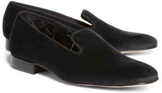 Brooks Brothers Velvet Slippers