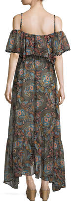Neiman Marcus Anjuna Celestina Off-the-Shoulder Printed Maxi Dress