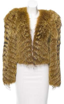 Toga Cutout Fur Bolero