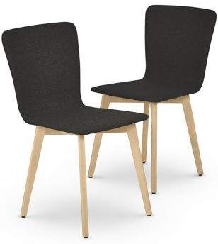 Marks and Spencer 2 Set of Brook Charcoal Light Dining Chairs