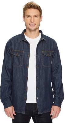 Columbia Pilot Peak Flannel Lined Denim Shirt Men's Long Sleeve Button Up