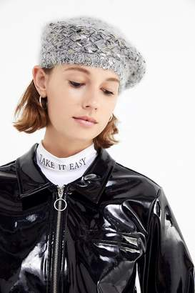 Urban Outfitters Metallic Yarn Beret