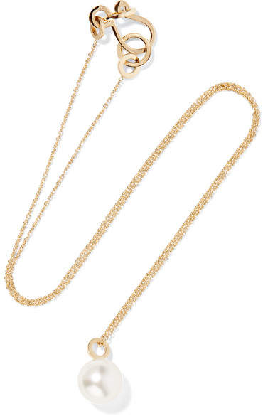 Sophie Bille Brahe - Petite Perle Simple 14-karat Gold Pearl Necklace
