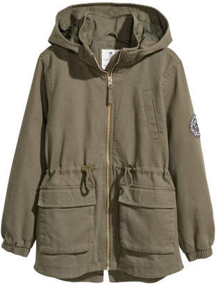 H&M Cotton Twill Parka - Green