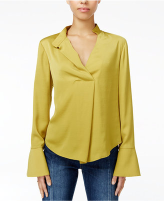 RACHEL Rachel Roy Bell-Sleeve Blouse, Only at Macy's $89 thestylecure.com