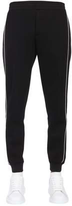 Alexander McQueen Sweatpants With Satin Side Panels