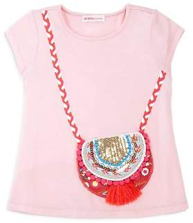 Design History Girls' Purse Tee - Little Kid