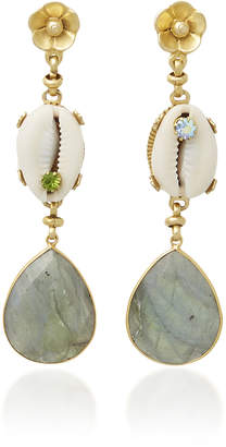 Eliza J Brinker & Eden 24K Gold-Plated Shell and Multi-Stone Earrings