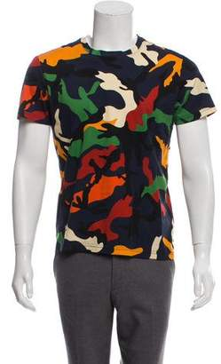 Valentino Camouflage Short Sleeve T-Shirt