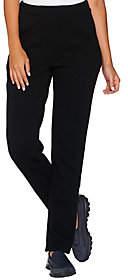 Denim & Co. Active Petite Slim Leg Full LengthPant w/ Pockets