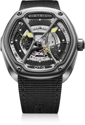 Dietrich OT-3 316L Steel Men's Watch w/Yellow Luminova and Nylon Strap
