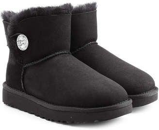 UGG Mini Bailey Bling Shearling Lined Suede Boots