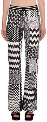 Missoni Patchwork Flared Pull-On Trousers