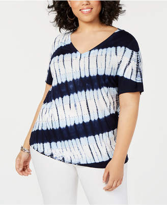 INC International Concepts I.n.c. Plus Size Tie-Dye T-Shirt